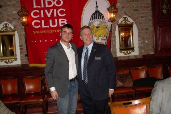 Nel 2009 Con Il Presidente Del Lido Civic Club